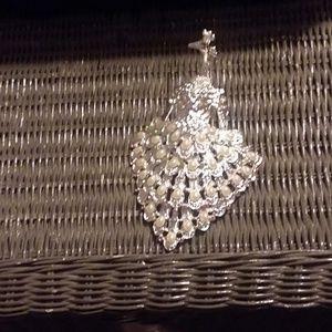 Silver Peacock Trinket box